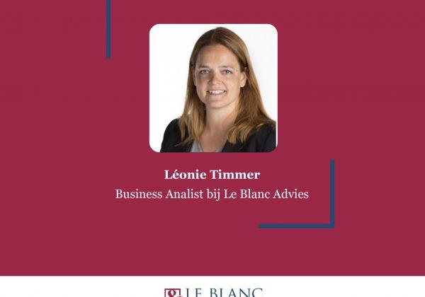 Nieuwe collega: Léonie Timmer